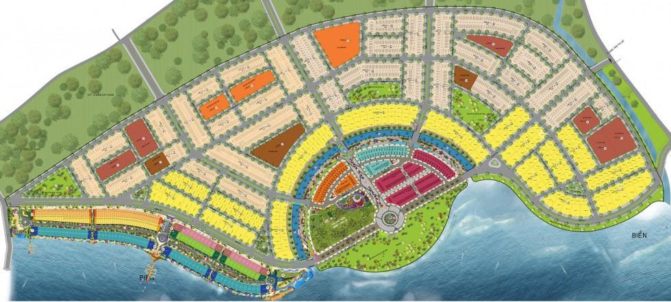 Mặt bằng toàn khu đô thị mới Hà Tiên